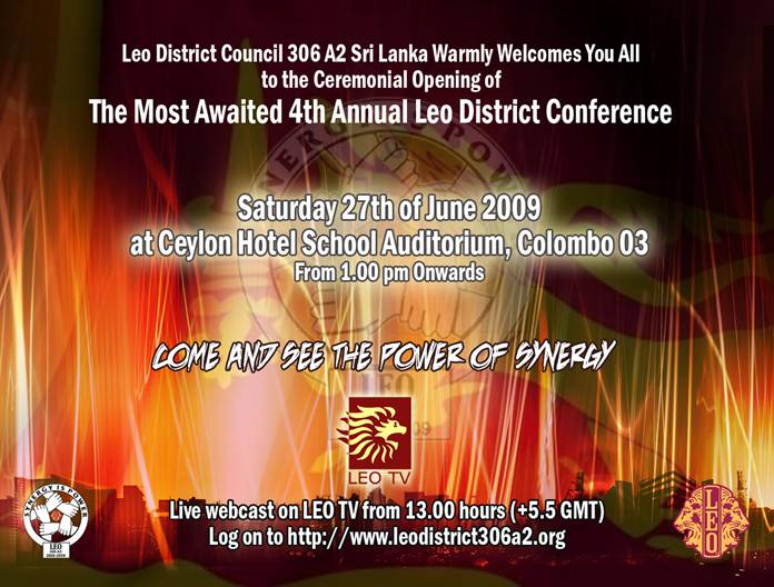 Invitation banner Leo district conference